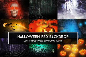Halloween PSD Backdrop