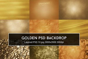 Golden PSD Backdrop