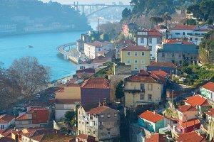 Aerial Porto view