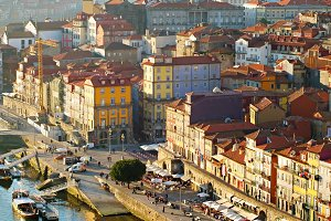 Aerial view of Porto Old Town