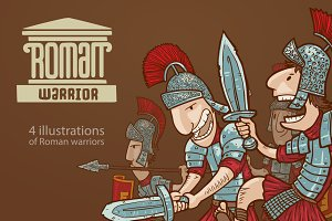Roman warriors, vector