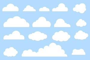 Clouds set, vector