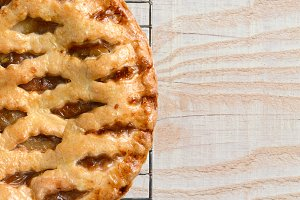 Apple Pie on Wood Table