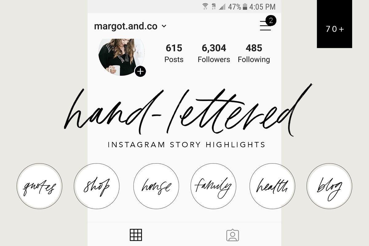 Hand-Lettered Instagram Highlights