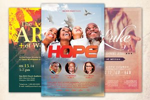 Hope Church Flyer Template Bundle