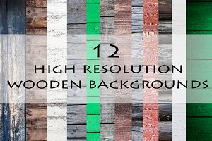 12 Wooden Backgrounds