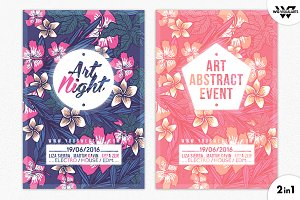 FLOWERS MINIMAL Flyer Template