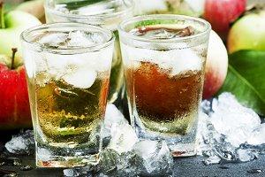 Cool apple juice
