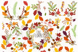 Thanksgiving Flower Clipart Vectors
