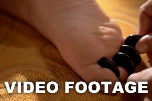 Hot Stone Massage of Foot