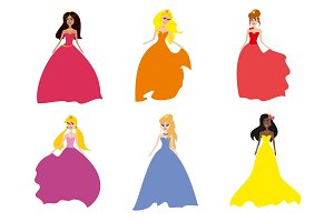 Сollection of beautiful princesses