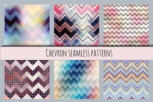 Chevron seamless patterns.
