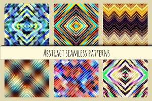 Set of geometric abstract patterns.