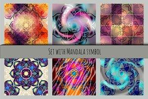 Mandala symbol set.