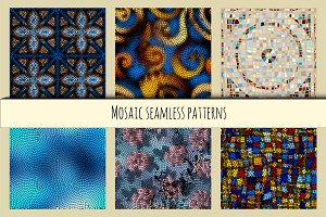 Set of mosaic patterns.