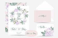 Wedding Invitation  watercolor set