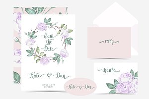 Wedding Invitation  watercolor set