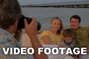 Taking pictures of the family on sea