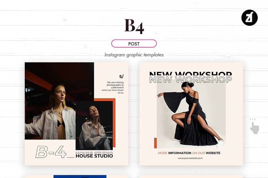 B4 social media graphic templates in Instagram Templates - product preview 1