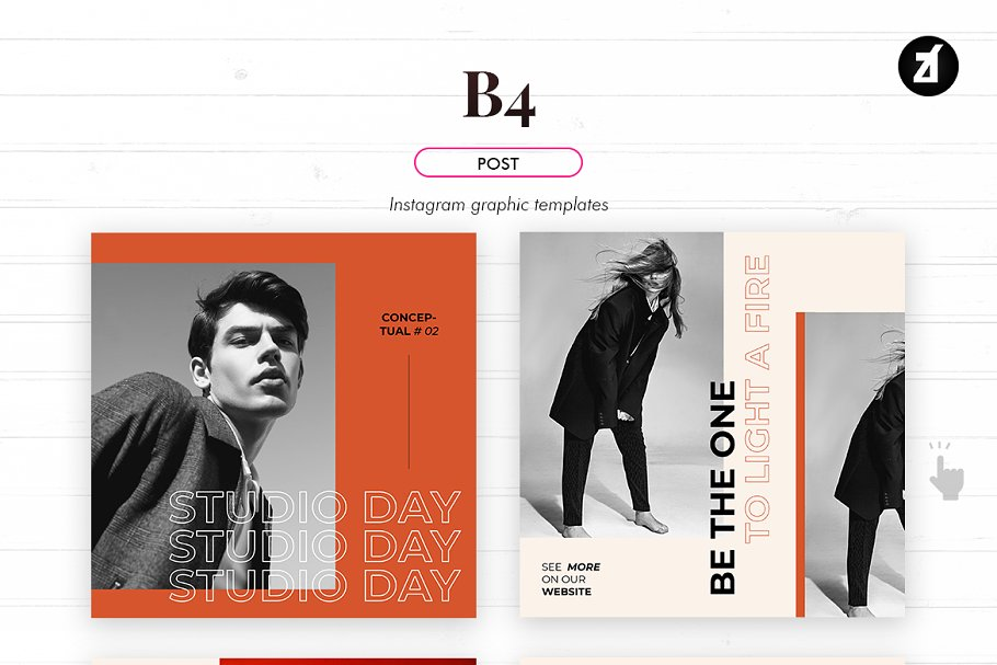 B4 social media graphic templates in Instagram Templates - product preview 2