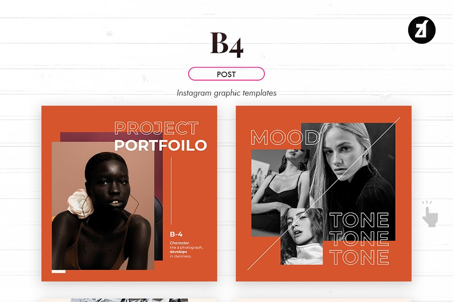 B4 social media graphic templates in Instagram Templates - product preview 3