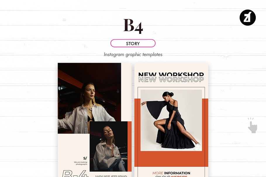 B4 social media graphic templates in Instagram Templates - product preview 4