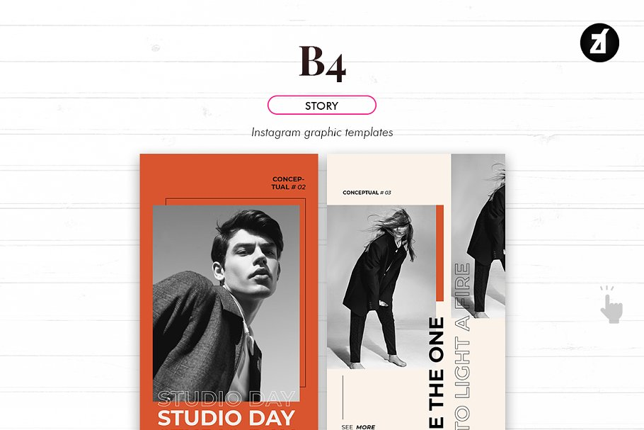 B4 social media graphic templates in Instagram Templates - product preview 5