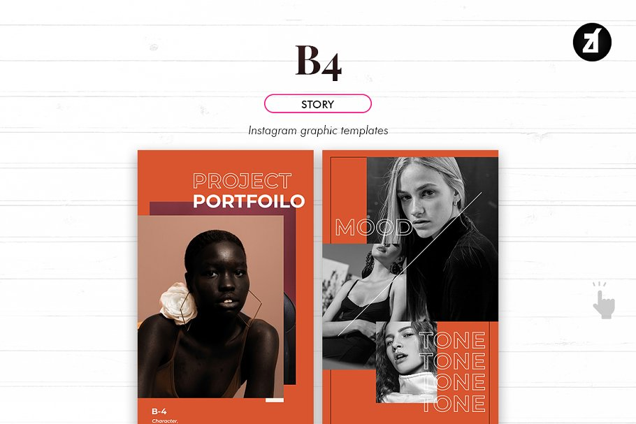 B4 social media graphic templates in Instagram Templates - product preview 6