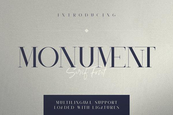 Monument - All Caps Serif Font