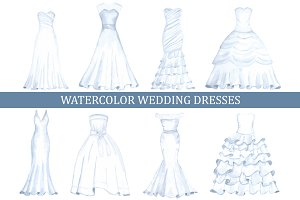 Watercolor wedding dresses
