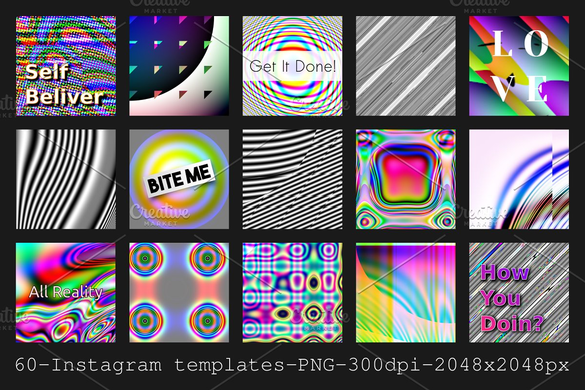 Instagram Abstract Templates