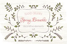 Branches design elements set