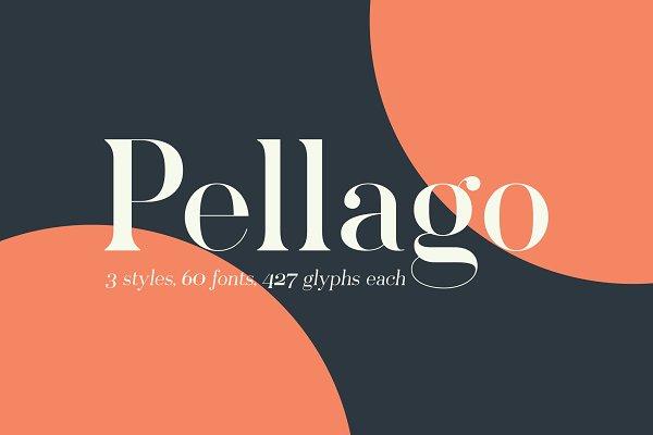 Pellago — Classic 60-Font Serif