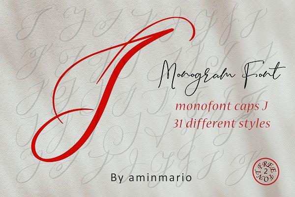 MONOGRAM J | Monofont caps J