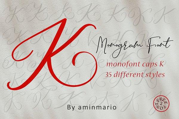 MONOGRAM K | Monofont caps K