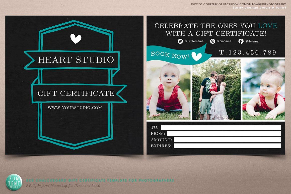 josh johnson (secondfret)  certificates collection  creative market - modern chalkboard gift certificate