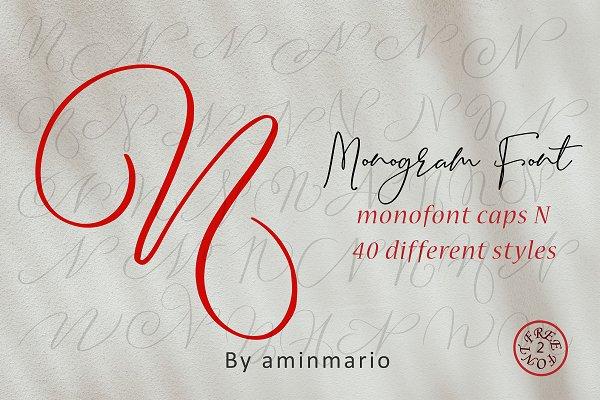 MONOGRAM N | Monofont caps N