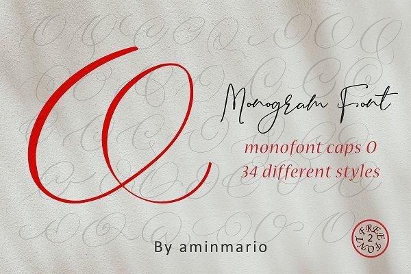 MONOGRAM O | Monofont caps O