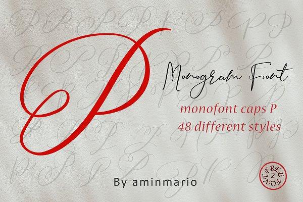 MONOGRAM P | Monofont caps P