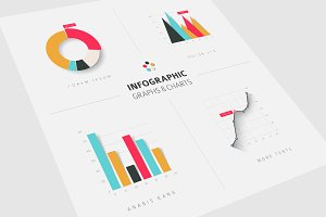 Infographic Graphs & Charts flat