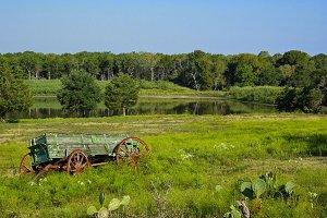 Wagon in a Field