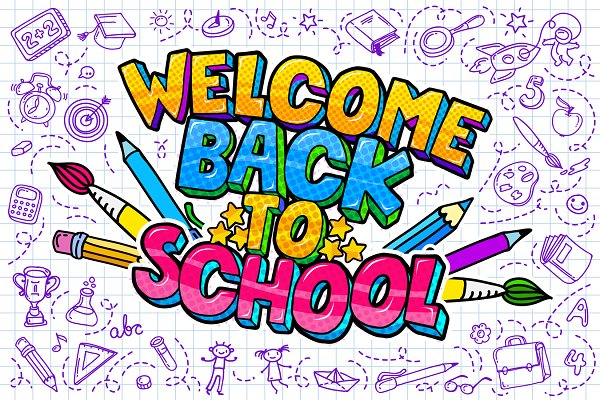 Welcome Back To School | Pre-Designed Photoshop Graphics ~ Creative Market