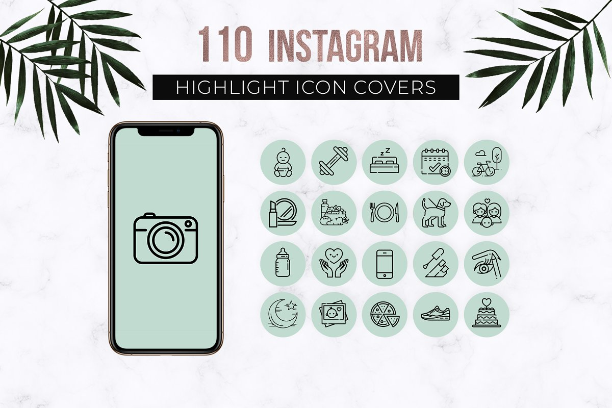 Mint Instagram Story Highlight Icons