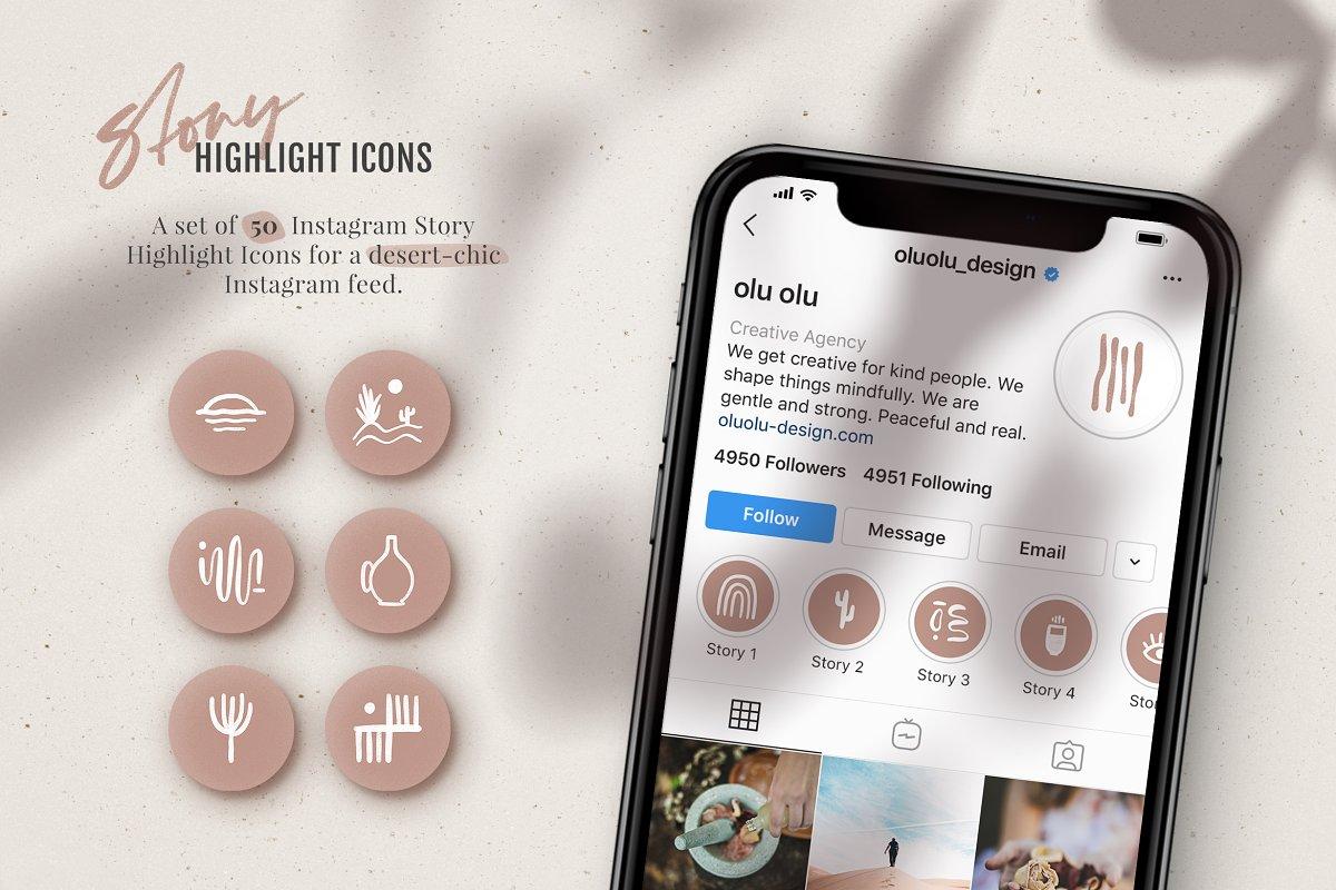 Instagram Highlight Icons – Desert
