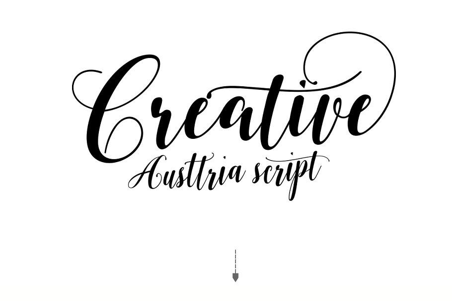 Austtria Script & Letter in Lettering Fonts - product preview 6