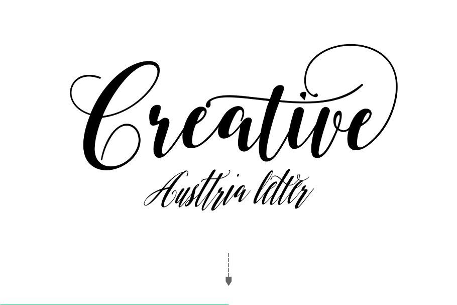 Austtria Script & Letter in Lettering Fonts - product preview 5