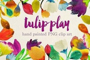 watercolor tulip clipart