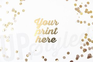 A123 Gold Confetti Styled Mock Up