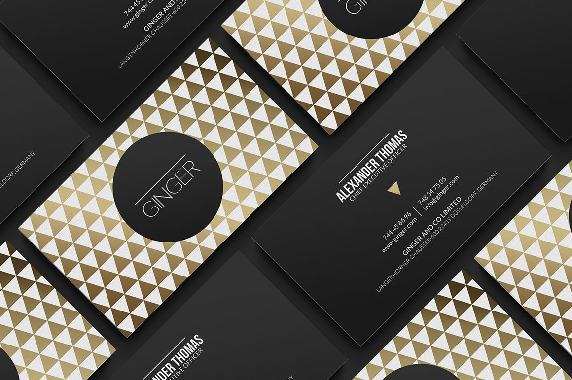 Premium Gold Business Card ~ Business Card Templates ~ Creative Market