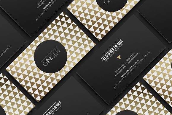 Premium gold business card business card templates creative market premium gold business card business cards wajeb Images